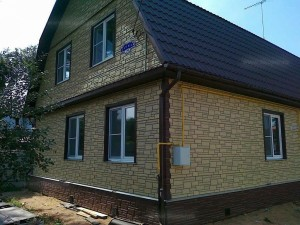 отделка фасада Тюмень фасадно цокольными панелями